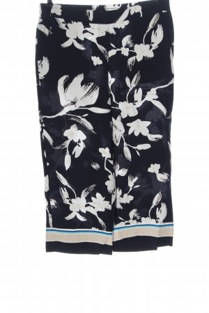Comma 7/8 Length Trousers black-white allover print casual look
