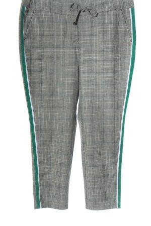 Comma Pantalon 7/8 motif à carreaux style décontracté