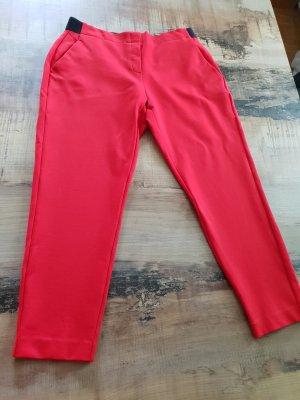 Comma Pantalon 7/8 rouge brique lycra
