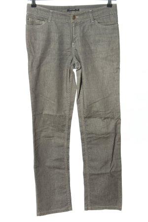 Comma Jeans 7/8 gris clair style décontracté