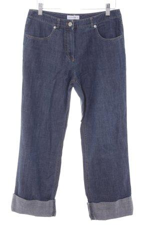 Comma 7/8 Jeans stahlblau Casual-Look