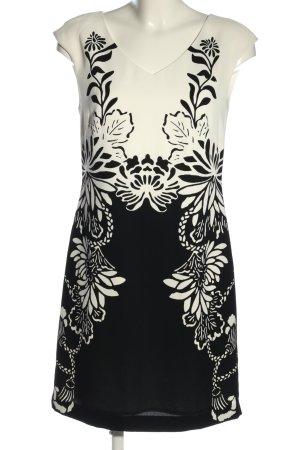 Comma A-Linien Kleid schwarz-weiß Animalmuster Casual-Look