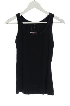 Comma Basic topje zwart casual uitstraling