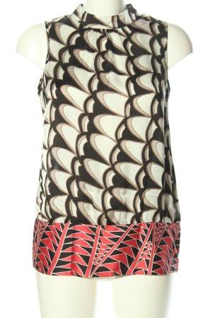 Comma ärmellose Bluse abstraktes Muster Casual-Look