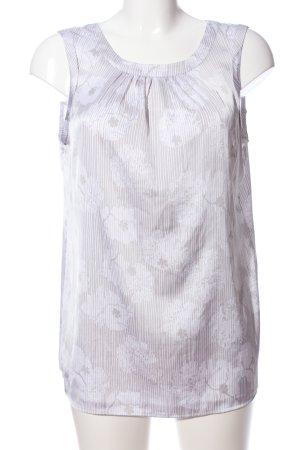 Comma ärmellose Bluse wollweiß-weiß Blumenmuster Casual-Look
