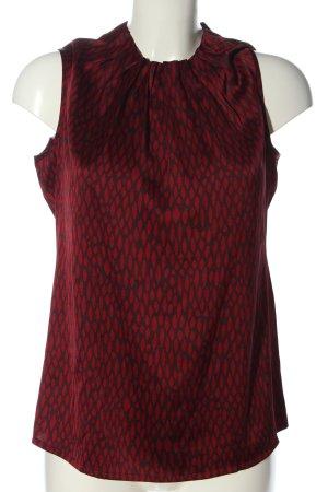 Comma ärmellose Bluse rot-braun Allover-Druck Casual-Look