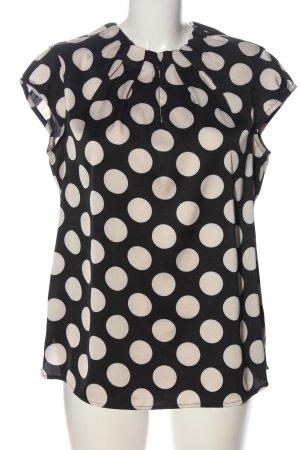 Comma Bluzka bez rękawów czarny-kremowy Na całej powierzchni W stylu casual