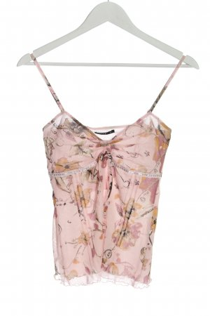 Comma Blouse topje roze volledige print casual uitstraling