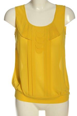 Comma Blusa sin mangas amarillo pálido look casual
