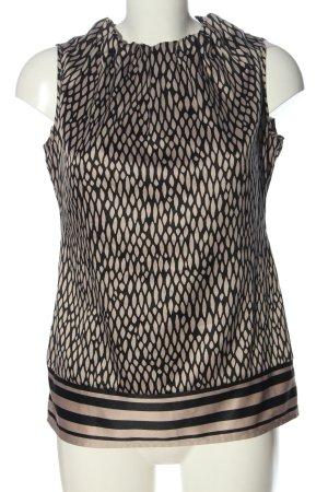 Comma Blusa sin mangas nude-negro estampado con diseño abstracto look casual