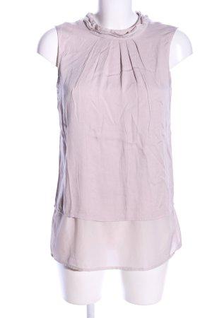 Comma ärmellose Bluse pink Casual-Look
