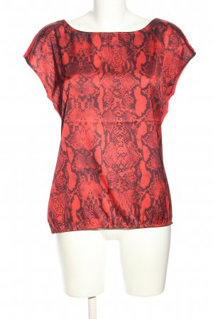 Comma ärmellose Bluse rot-schwarz Animalmuster Casual-Look
