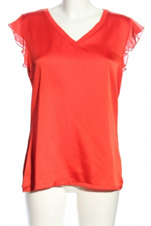 Comma ärmellose Bluse rot Casual-Look