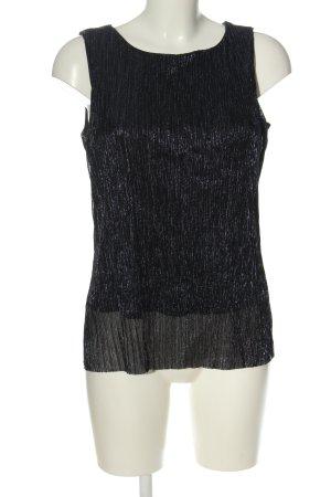 Comma ärmellose Bluse schwarz Elegant