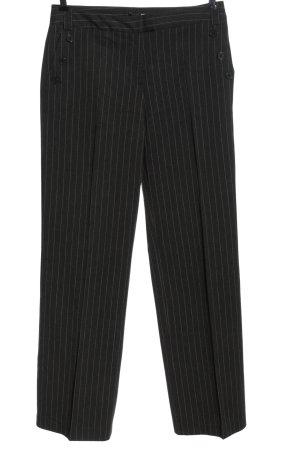 Comma Pantalon de costume noir-blanc motif rayé style décontracté