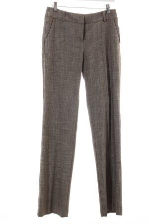 Comma Pantalon de costume gris brun moucheté style classique