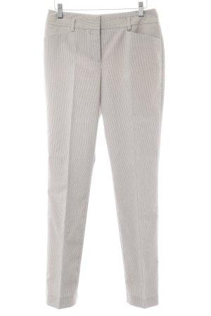 Comma Anzughose graubraun-weiß Nadelstreifen Business-Look