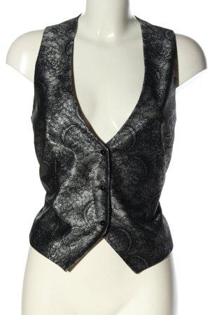 Comma Chaleco de vestir negro-gris claro brillante