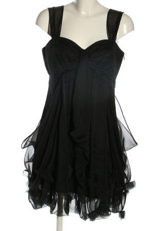 Comma Ballonkleid schwarz Elegant
