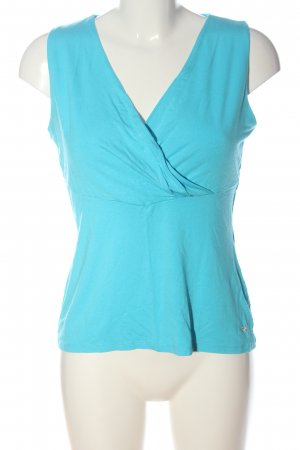 Comma Basic Top blue casual look