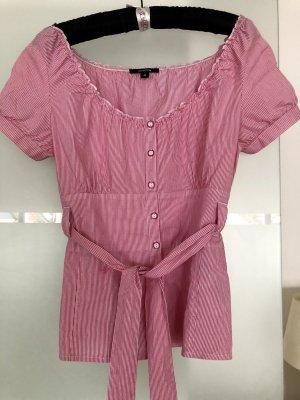 Comma Carmen Blouse neon pink cotton