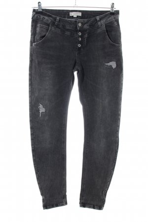 Comma Biker Jeans light grey casual look