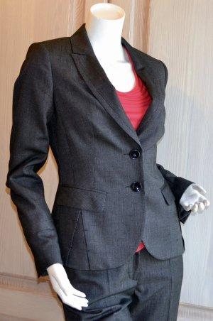 Comma Blazer Anzug Hose schwarz mit Punkten 34 top