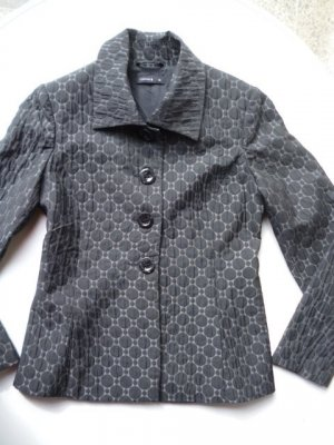 COMMA Blazer, elegant, schwarz-grau, Gr. 38