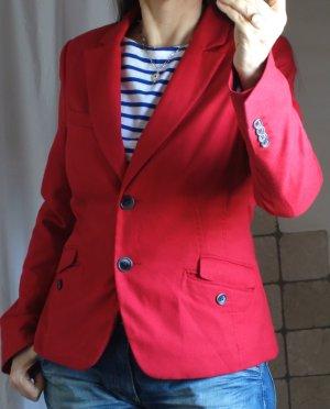 Comma Blazer in rot, hellrot, gefüttert, klassisch, tailliert, sehr gute Qualität und Passform, bester Zustand, Gr. 38