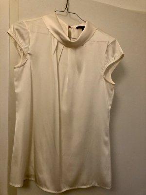 Comma Glanzende blouse wolwit