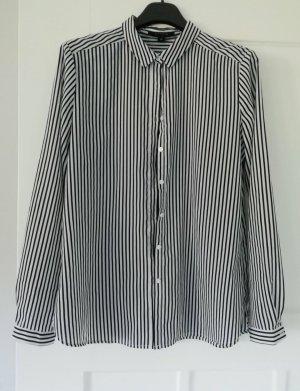 Comma Camicia blusa bianco-nero
