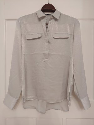 Comma Glanzende blouse zilver