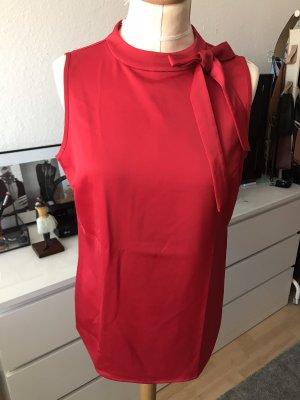 Comma Blusen Top in Rot mit Schleife