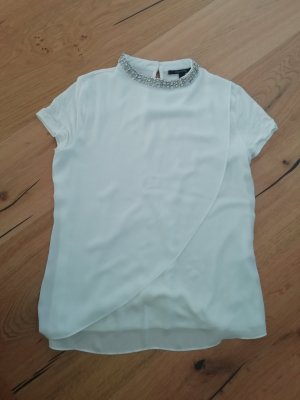 Comma Blusenshirt Glitzer Strass Schmuckkragen Turtleneck Shirt