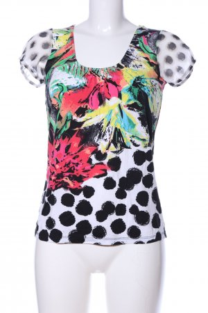 Comma Blouse topje abstract patroon casual uitstraling