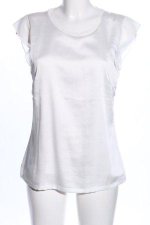 Comma Blusentop weiß-silberfarben Casual-Look