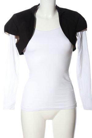 Comma Bolero weiß-schwarz Casual-Look