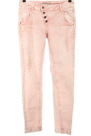 Comma Jeansy typu boyfriend różowy W stylu casual