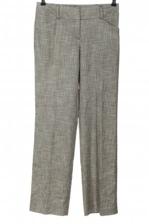 Comma Pleated Trousers black-white flecked business style