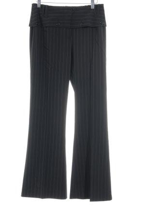 Comma Bundfaltenhose schwarz-weiß Nadelstreifen Business-Look