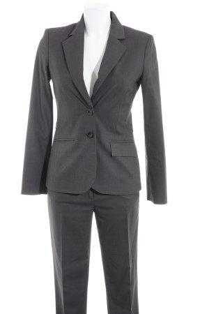 Comma Business-Anzug dunkelgrau Karomuster Business-Look
