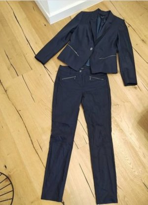 Comma Business Suit gold-colored-dark blue