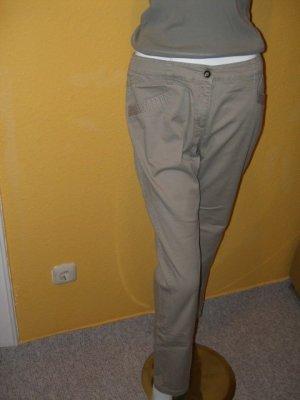 Comma Pantalone Capri beige Cotone