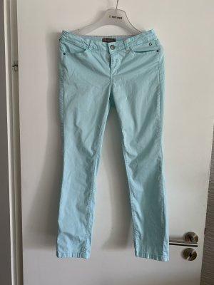 Comma Drainpipe Trousers turquoise
