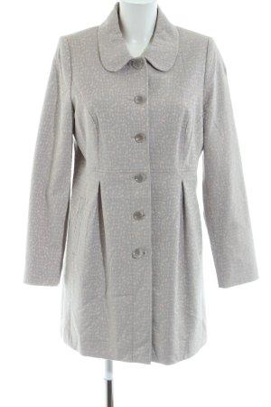 Comma Heavy Pea Coat light grey-natural white allover print casual look
