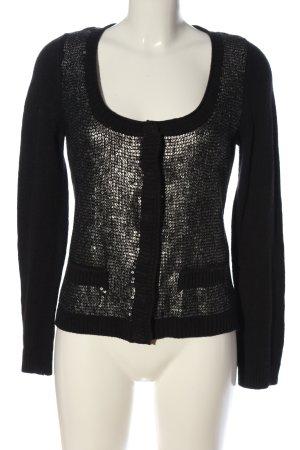 Comma Cardigan schwarz-silberfarben Elegant