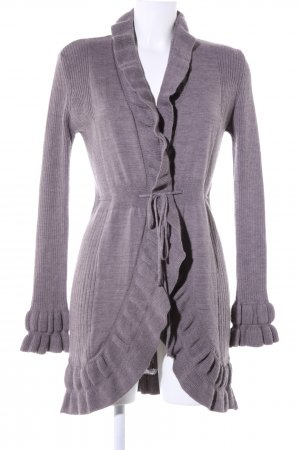 Comma Cardigan lila Allover-Druck Business-Look