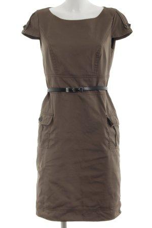 Comma Vestido de camuflaje marrón-negro look casual
