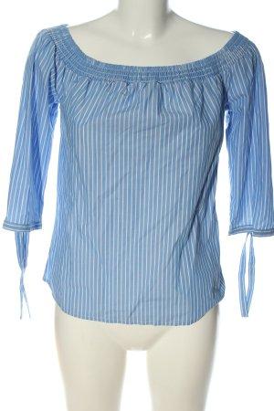 Comma Carmen-Bluse blau-weiß Streifenmuster Elegant