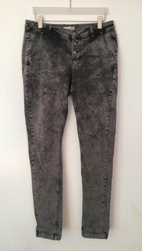Comma Jeans boyfriend grigio-grigio scuro Cotone